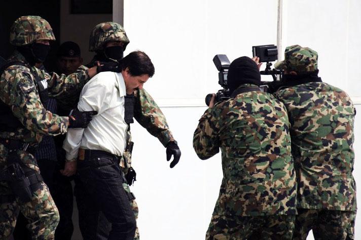 Captura de El Chapo Guzmán.